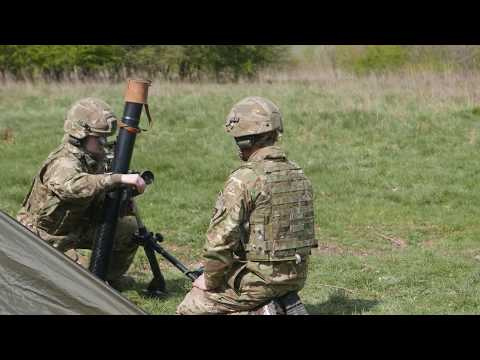 LONDONS Mortar Platoon Training On Salisbury Plain