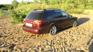 Субару Легаси 2.5 на песке 2 subaru legacy off-road in sand
