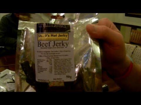 XXX Naga Jolokia Beef Jerky Review  Made by trailhead fine foods