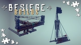 Besiege Builds #2 - Ballista, Trebuchet, Reloadable Catapult And More - Besiege Gameplay