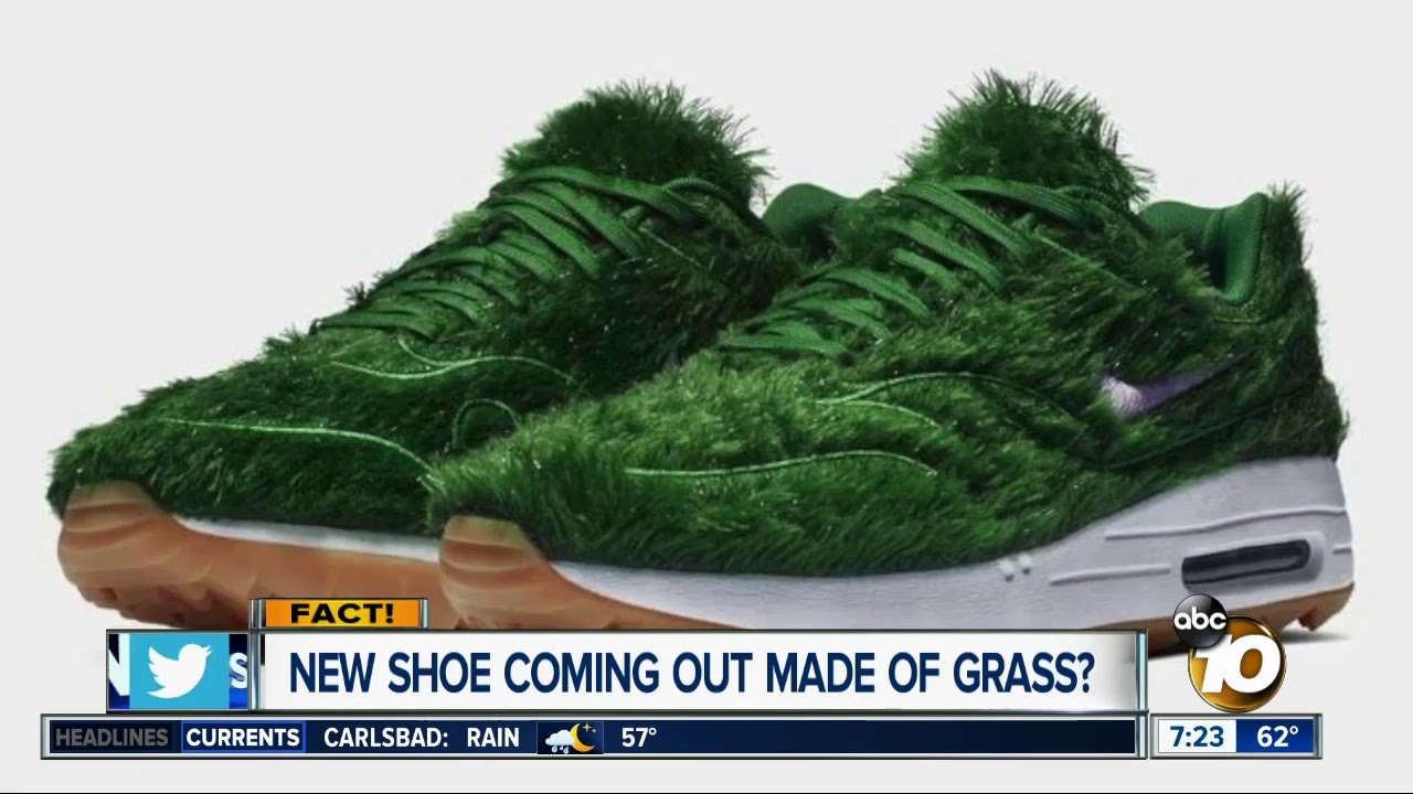 New shoe made out of grass? - YouTube
