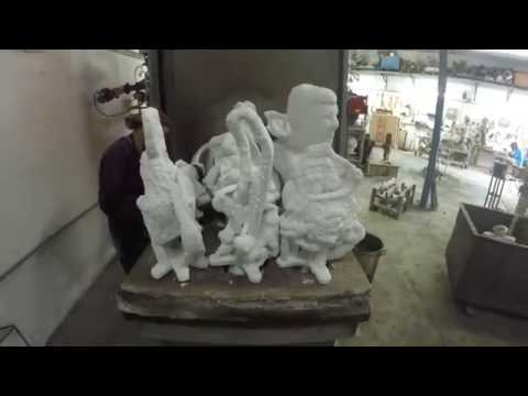 Another Day of Bronze Casting Process - RUN Art Foundry