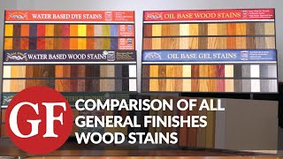 Comparison of all General Finishes Wood Stains