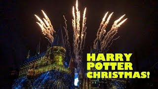 Hogwarts Castle Christmas Show Wizarding World Harry Potter Universal Studios Islands of Adventure