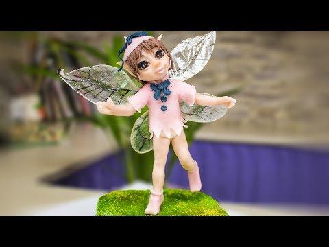 Фея тролли. Сахарная фигурка на проволочном каркасе из принцессы