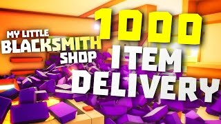 OPENING CRATE WITH OVER 1000 ITEMS - My Little Blacksmith Shop Game - Blacksmith Shop Cheat