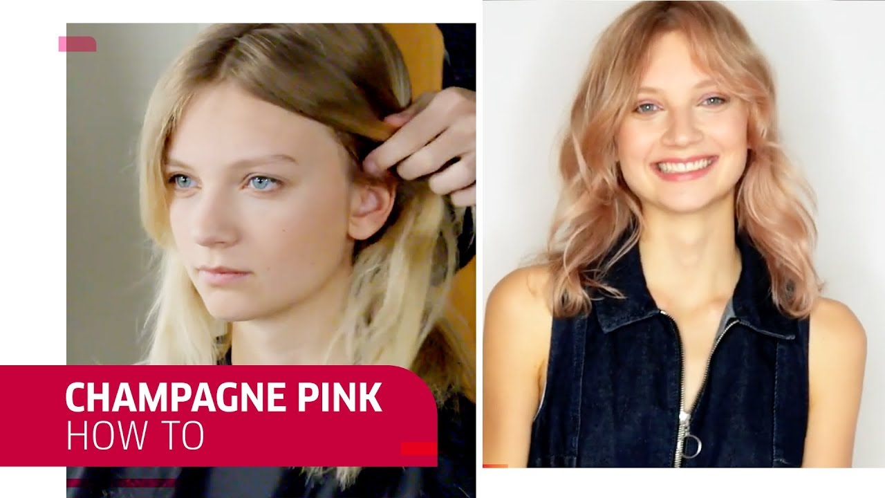 How To Create Champagne Pink Hair Wella Professionals Youtube