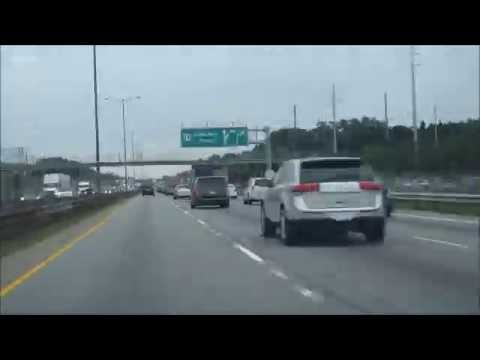 Zipping past traffic / 800 cars on the crazy 3+ Pan Am HOV lane (time lapse) in Toronto