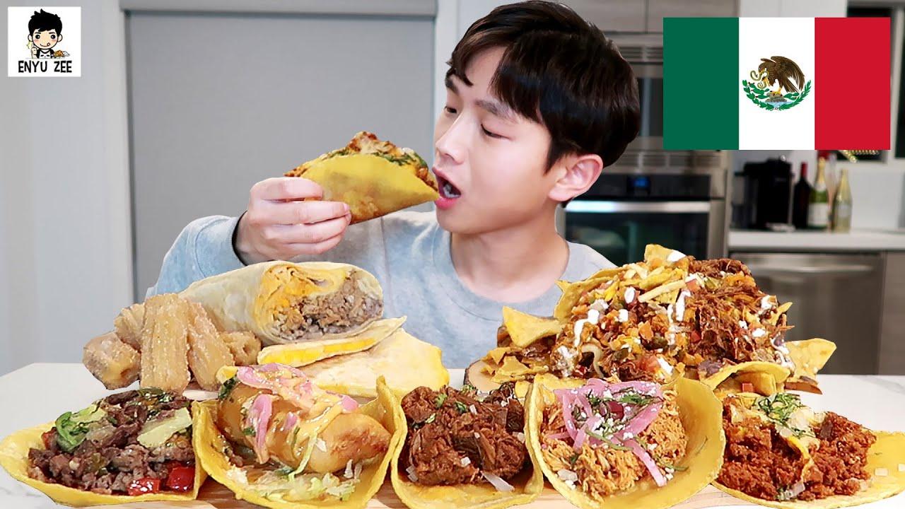 SUB)🇲🇽 MEXICAN FOOD MUKBANG [😋멕시코음식] TACO, BURRITO, CHURROS, NACHOS 먹방