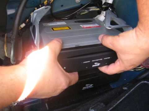remove navigation cd changer  jaguar  type