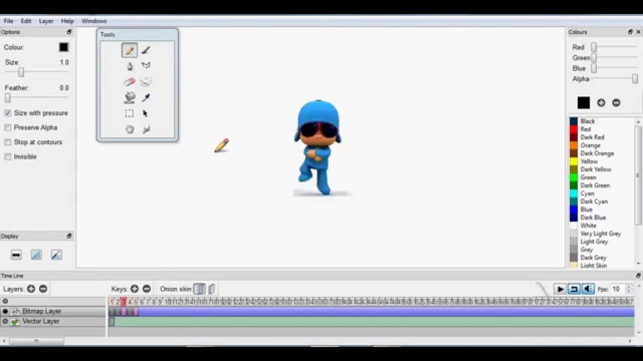 how to use pencil animation software
