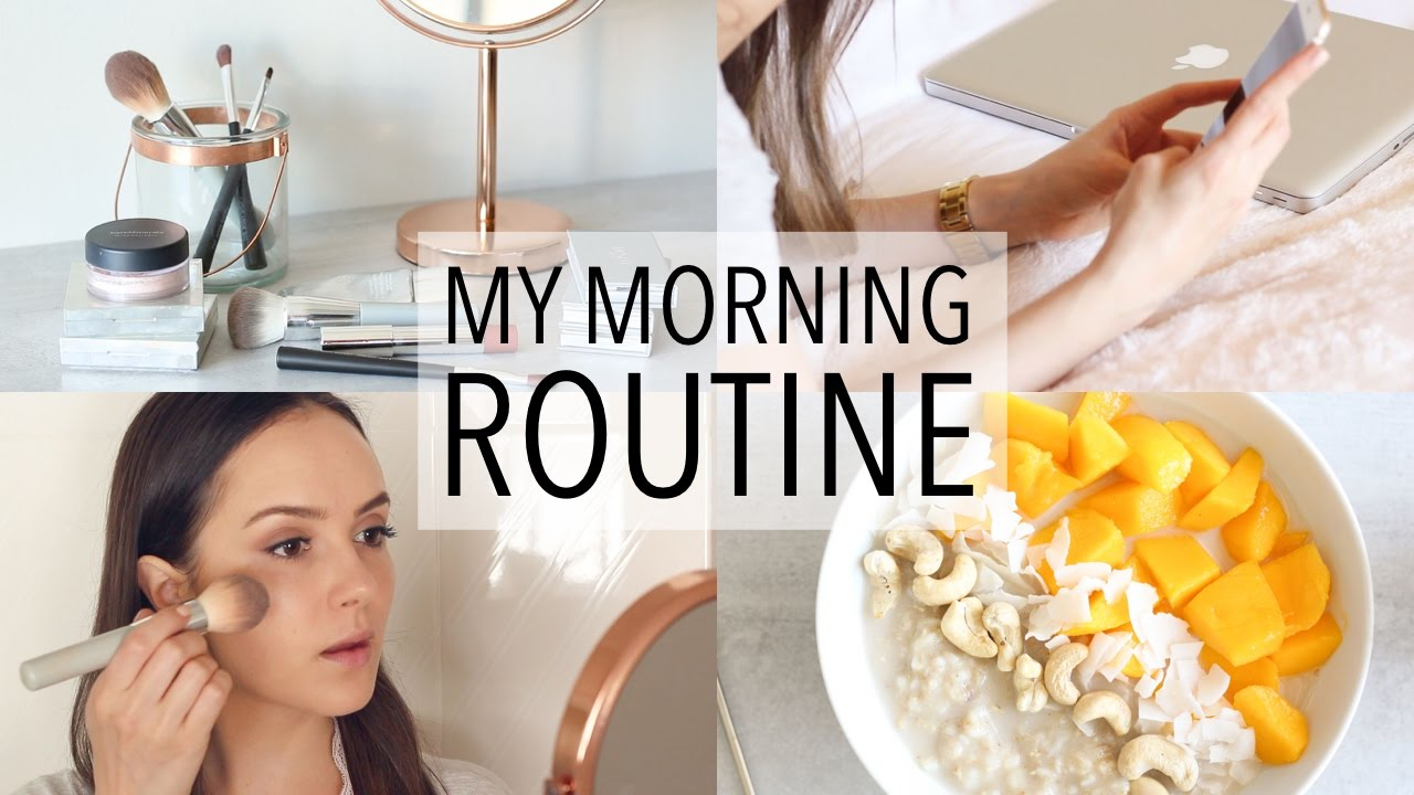MY MORNING ROUTINE + HEALTHY BREAKFAST IDEA! - YouTube
