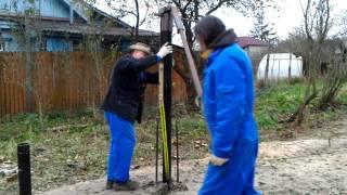 видео Винтовой фундамент своими руками