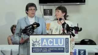 Same-sex couple Jane Blackburn and Lyn McCoy explain why they would like to be able to get married in North Carolina. A U.S. Court of Appeals for the Fourth Circuit on Monday declared that Virginia's ban on marriage for same-sex couples is unconstitutional. North Carolina has a similar law.