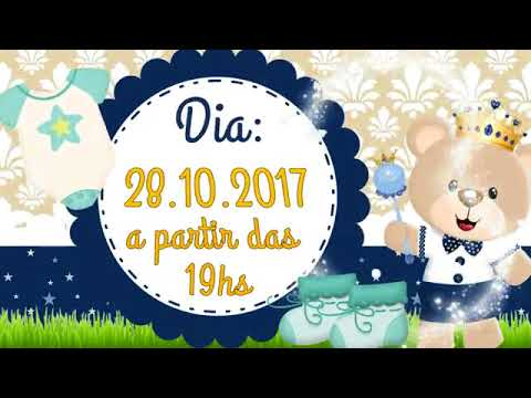 Convite Animado Chá De Bebé Urso Príncipe Youtube