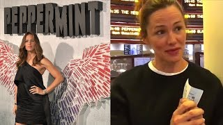 Jennifer Gardner Is Shy While Seeing Her Film 'Peppermint' In Theaters with Audience