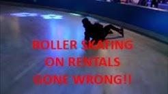 ROLLER SKATING ON RENTALS CHALLENGE!! *GONE WRONG*