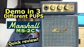 Marshall MS-2C Micro Amp | Review | Demo in 3 different PUPS