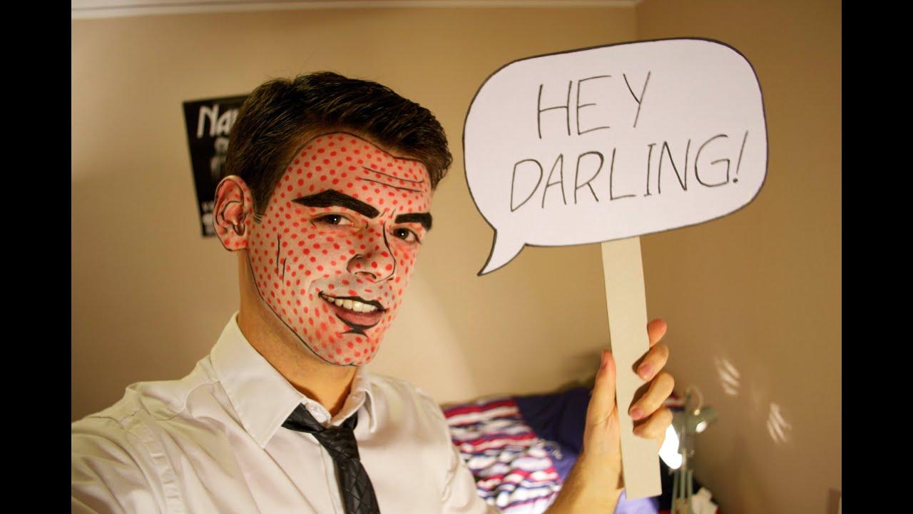guy pop art makeup youtube