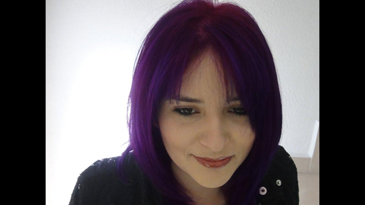 Baño De Color Rojo En Pelo Oscuro:Color De Cabello Rojo Violeta