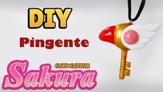 DIY: COMO FAZER PINGENTE CHAVE SAKURA CARD CAPTORS (Clow Key Pendant) #diynostalgia