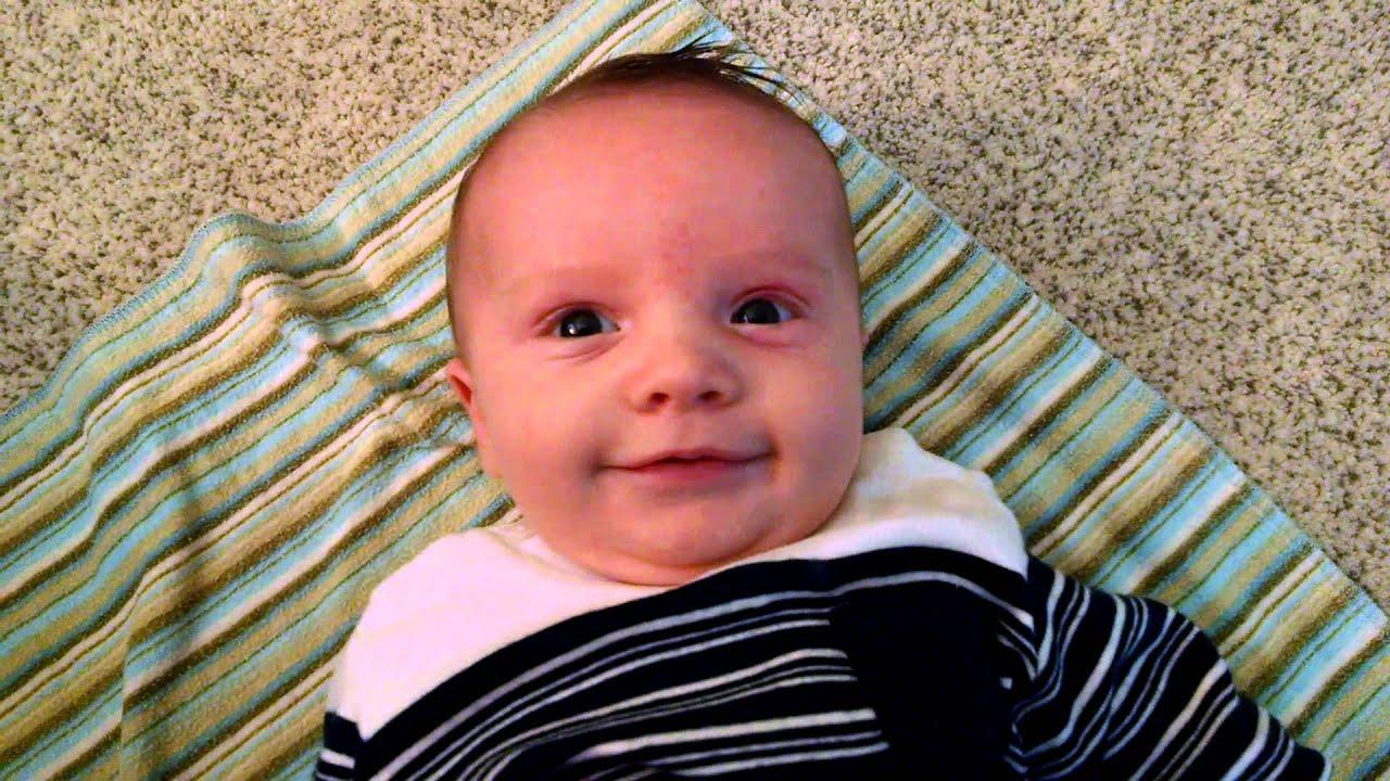 Jack 7 1/2 weeks old smiling