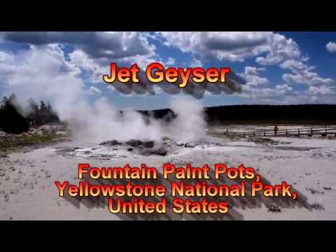 Jet Geyser, Fountain Paint Pots, Yellowstone National Park, United States