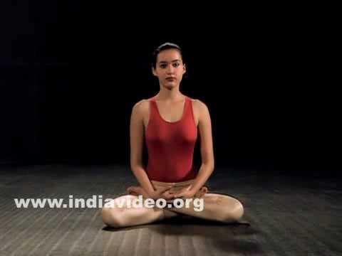 padmasana or lotus pose yoga asana for meditation  youtube