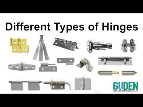 Different Types of Hinges - Choosing the Right Hinge for Your Application