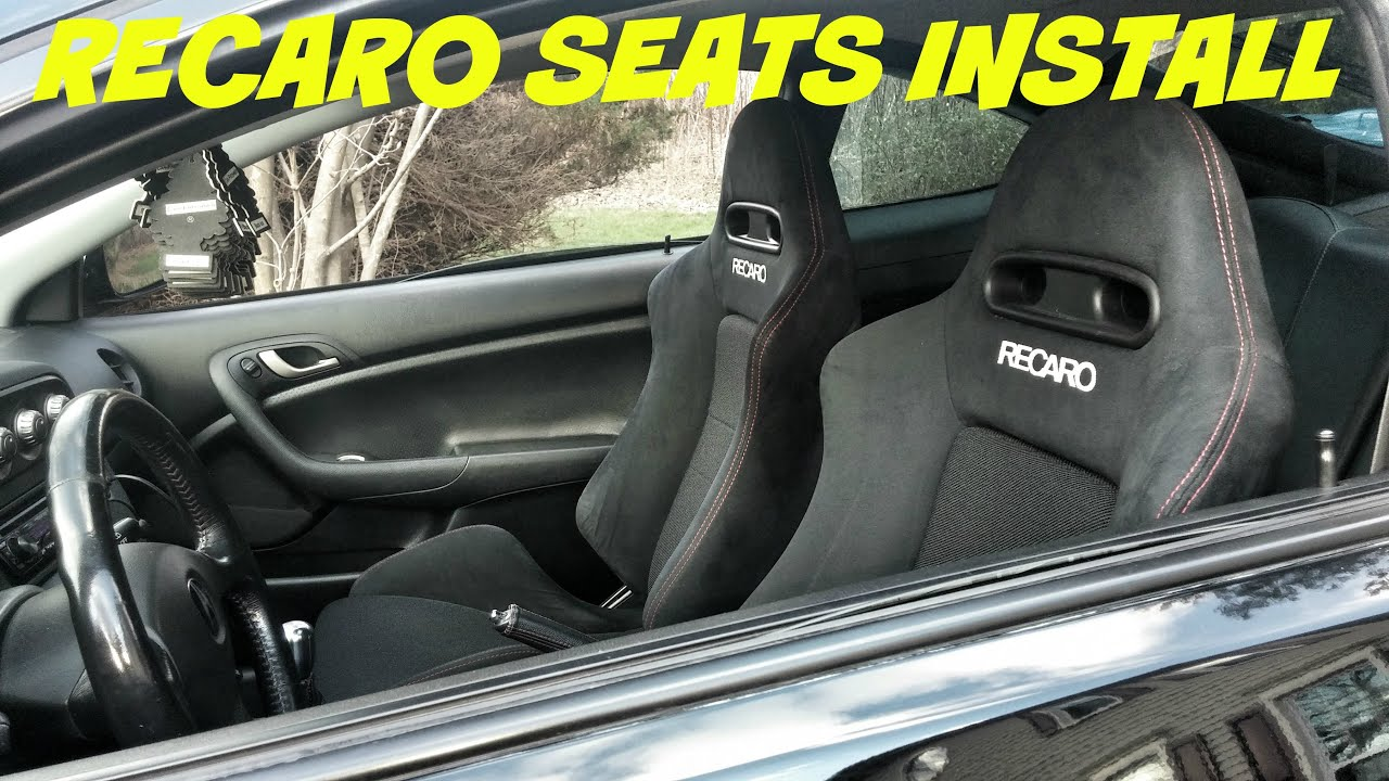 How To Install Recaro Seats Into An Rsx Youtube