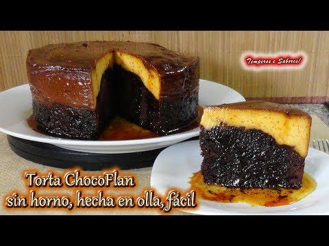 TORTA CHOCOFLAN SIN HORNO HECHA EN OLLA, muy fácil