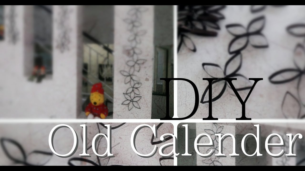 Diy room or home decoration recycled old calendar into for How to make home decorations