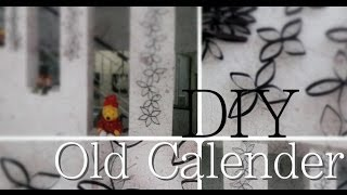 Diy Room Or Home Decoration / Recycled Old Calendar Into Wall Decorations