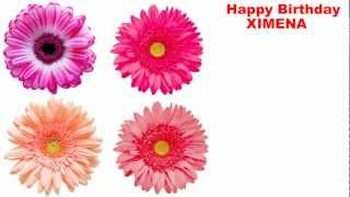 Ximena - flowers - Happy Birthday