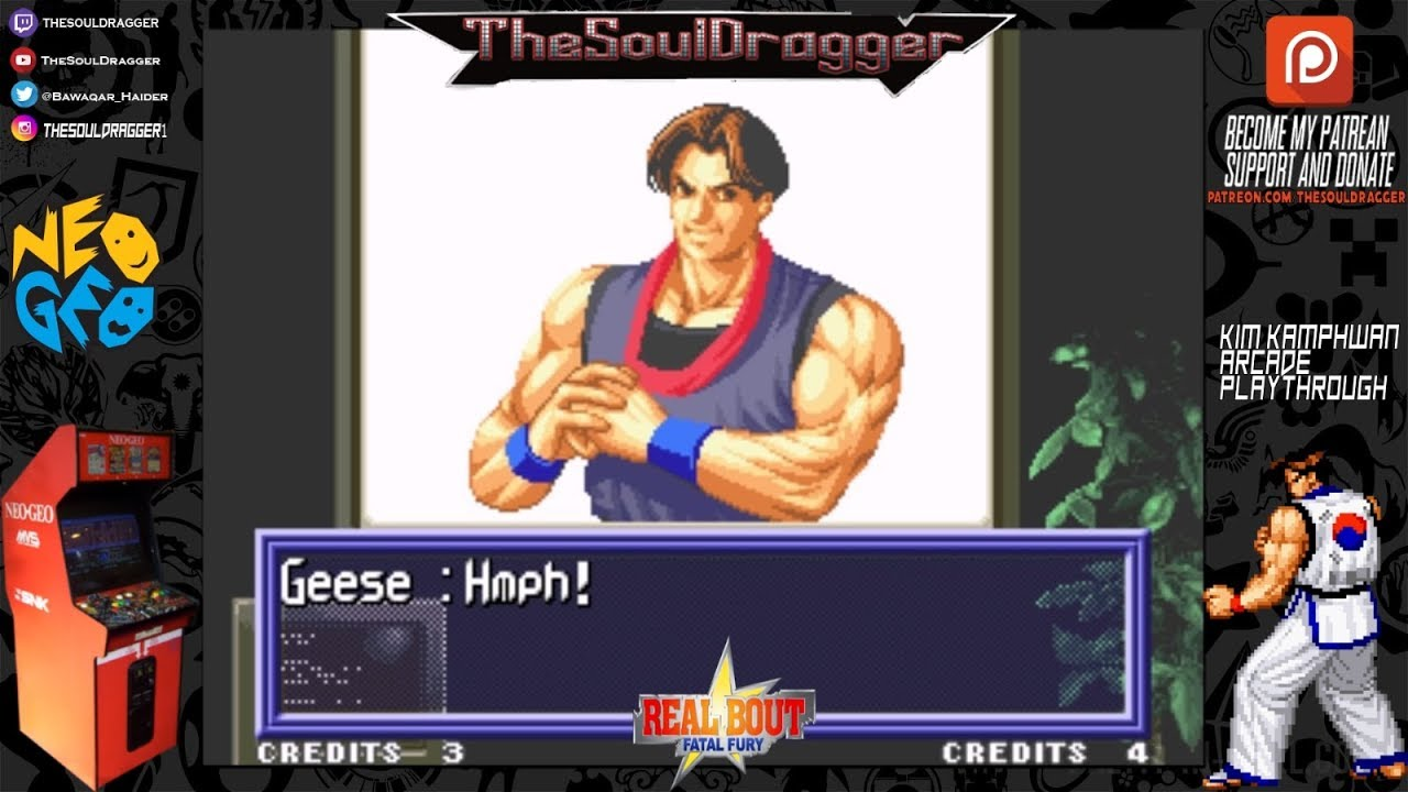 real bout fatal fury kim kaphwan playthrough game review youtube youtube