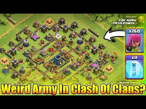 I Accept Your Challenge😎Weirdest Army In Clash Of Clans🤧Only Noob Use This Army😂