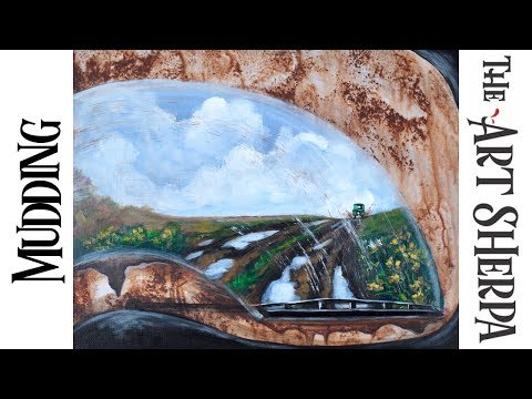 Mudding How to paint with Acrylic on Canvas a window View The Art Sherpa