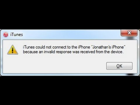 itunes could not connect to this iphone itunes could not connect to the iphone because an invalid 20504