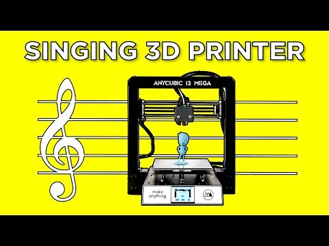 I Taught My 3D Printer How to Sing  and Dance!