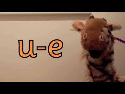 Geraldine the Giraffe learns /u-e/