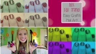 DIY Fall Trend: Easy Graffiti Nail Art! Thumbnail