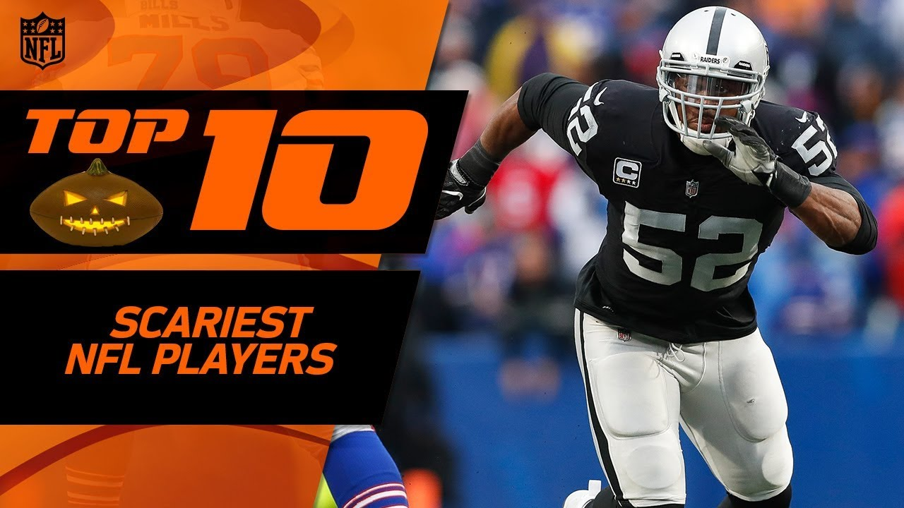 Happy Nfl Players: Top 10 Scariest NFL Players 👻