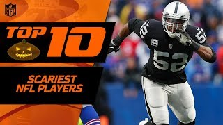Top 10 Scariest NFL Players 👻 | Happy Halloween from the NFL! 🎃