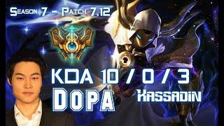Dopa KASSADIN vs TALIYAH Mid - Patch 7.12 KR Ranked