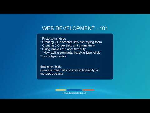 5. Adding And Styling Lists Using HTML And CSS - Digital Student Online School