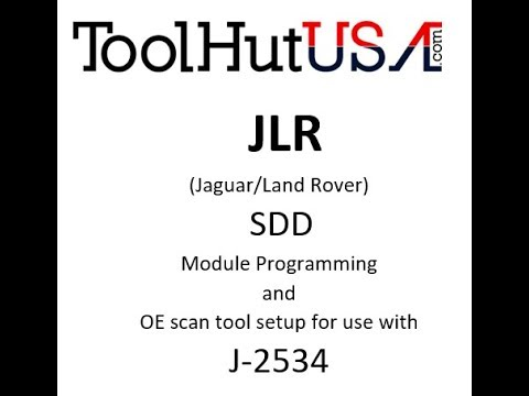 JLR SDD (module programming) setup for use with J2534