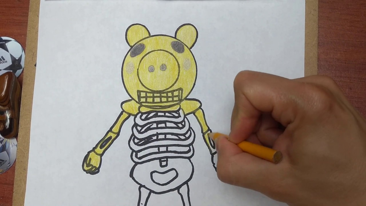 Como Dibujar A Kitty Roblox Como Dibujar Y Pintar A Skelly De Piggy Roblox How To