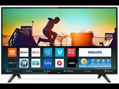Philips 139 cm (55 inches) 6100 Series 4K LED Smart TV 55PUT6103S/94 (Bl...
