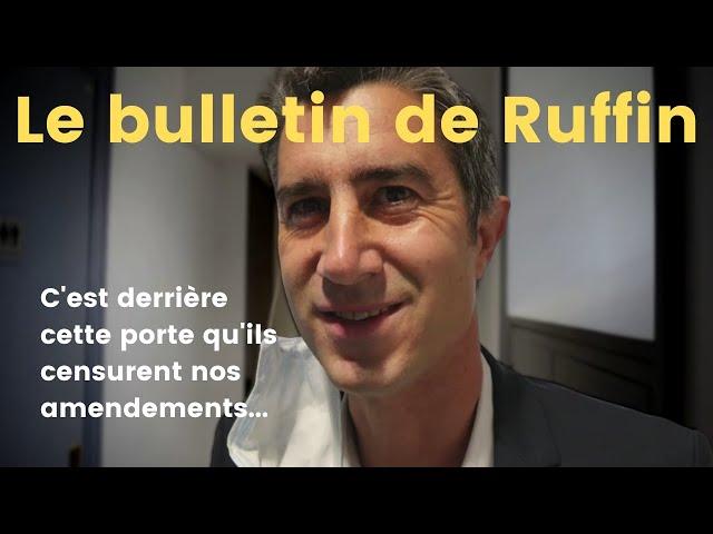 Ma bataille du budget !... Le bulletin de Ruffin