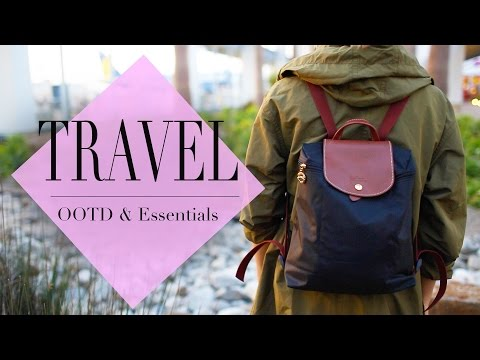 What's In My Travel Backpack | OOTD & Essentials | ANN LE